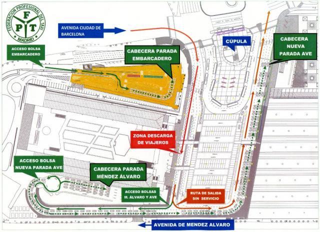 Estacion De Atocha Mapa.Las Tres Bolsas De Taxis De La Estacion Puerta De Atocha